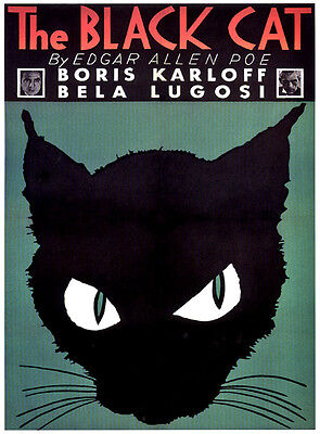 HALLOWEEN THE BLACK CAT MOVIE POSTER 1934 VINTAGE REPRODUCTION POSTER