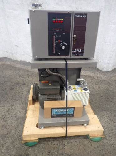 New Varian 959 Mass Spectrometer Helium Leak Detector Agilent Pump