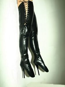 Black Red Latex Rubber Ballet Boots Size 7 12 Heels 8 5 Producer Poland Ebay