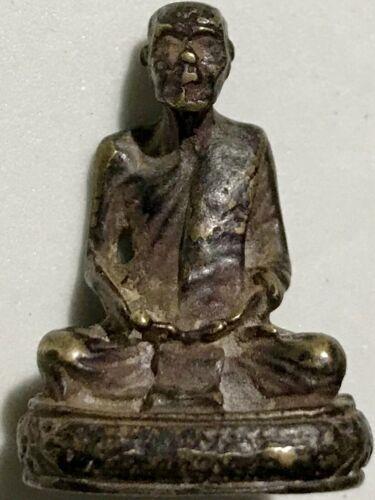 PHRA LP DEEM RARE OLD THAI BUDDHA AMULET PENDANT MAGIC ANCIENT IDOL#15