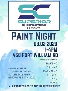 Paint Night in support of Superior Cheer