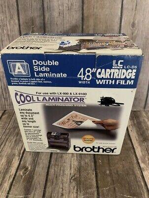 Genuine Brother Lc-d5 Cool Laminator 4.8 Cartridge Film Double Side Laminate U1