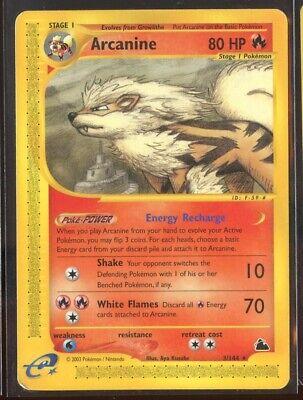 Arcanine Rare Non-Holo 3/144 Exc/LP Skyridge Pokemon