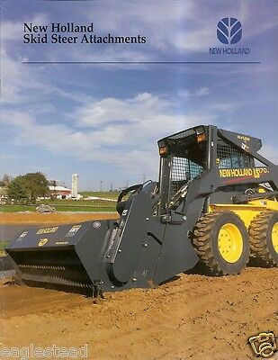 Equipment Brochure - New Holland - Skid Steer Attachments - 2003 E2010