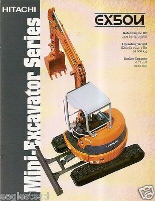 Equipment Brochure - Hitachi - Ex50u - Mini-excavator - C2000 E2216