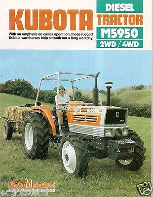 Farm Tractor Brochure - Kubota - M5950 - 1983 Fb585