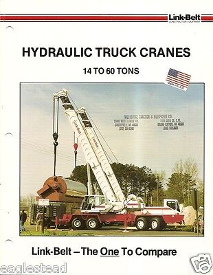 Equipment Brochure - Link-belt - 14-60 Ton - Hydraulic Truck Crane C1987 E1910
