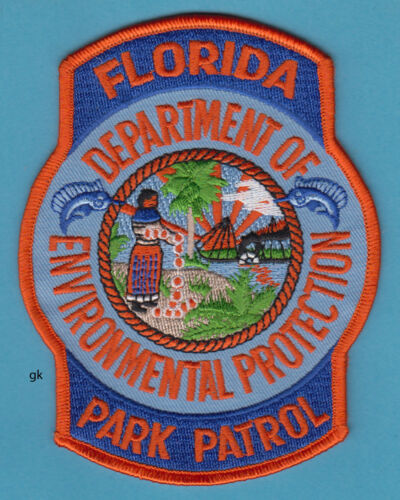 FLORIDA PARK PATROL  DEPARTMENT OF ENVIRONMENTAL PROTECTION POLICE PATCH
