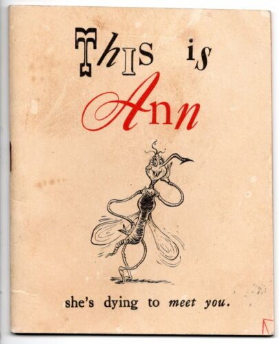This Is Ann Rare Dr Seuss Mini-Booklet 1943 Free Overnight shipping