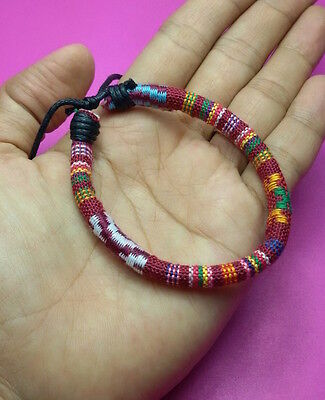 Cuff Hmong Woven fabric Friendship Bracelet handicraft hippie 1 round PC Fashion for sale  Shipping to Canada