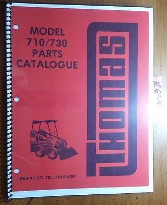 Thomas 710 730 Skid-steer Sn 7000- Parts Catalogue Manual 19274 580