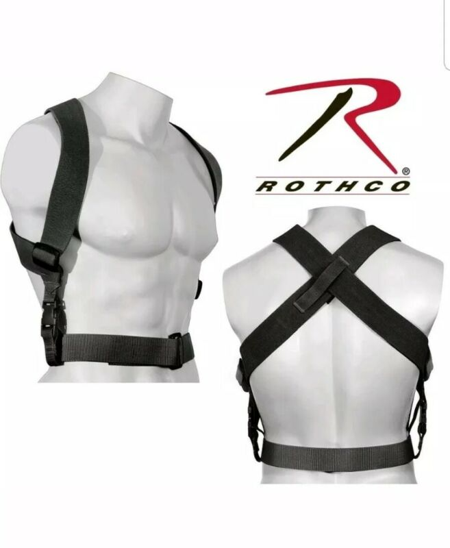 Combat Duty Belt  Suspenders Tactical Adjustable Black Hold your pants up!