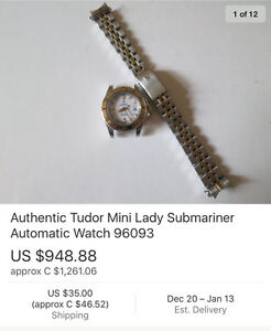 Nearly identical woman's Tudor watch