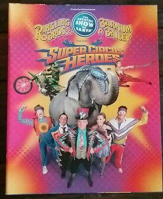 Ringling Bros. Barnum & Bailey Super Circus Heros Circus Show Program NEW