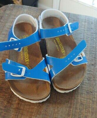 Kids birkenstock sandals Blue Girls 27 C9