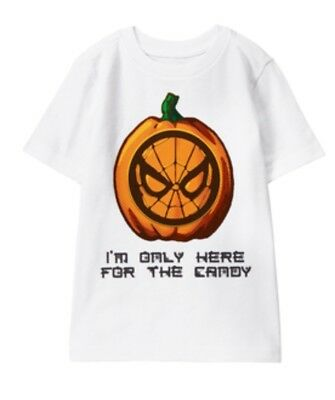 Nwt Gymboree Marvel Spider-Man Halloween Pumpkin Boys Shirt 5t