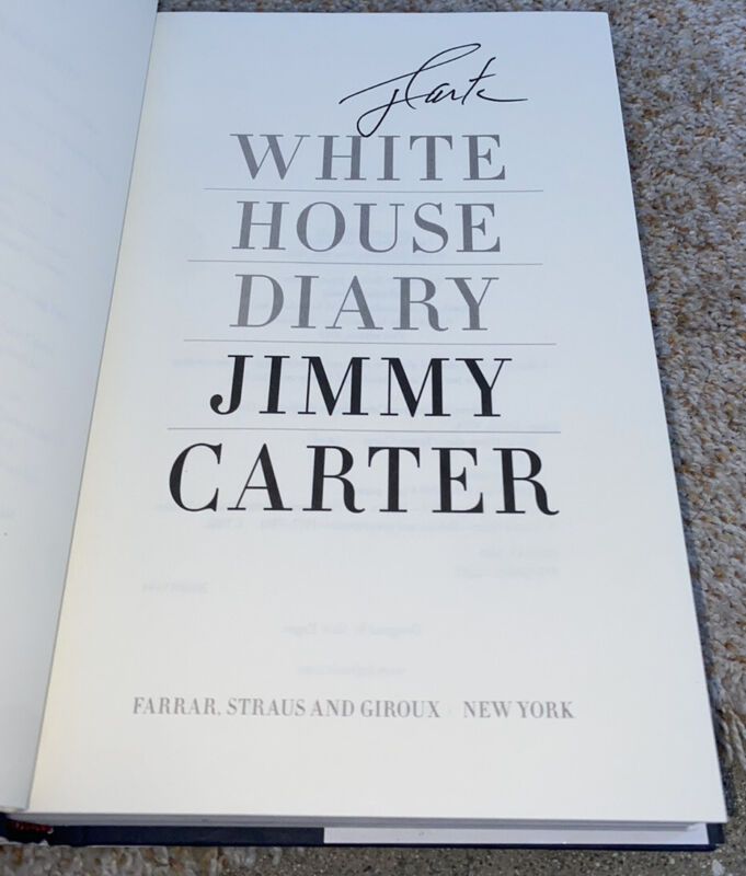 Jimmy Carter Signed Book titled White House Diary