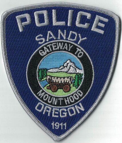 Sandy Police blue OR Police OREGON patch