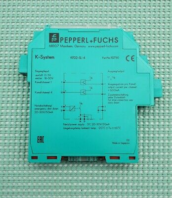 Pepperl Fuchs Solenoid Driver Power Amplifier Kfd2-sl-4