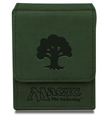 ULTRA PRO GREEN MAGNETIC FLIP DECK BOX Mana Symbol MTG Magic the Gathering