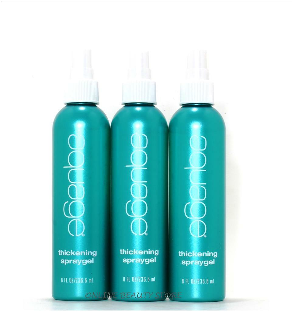 Aquage Thickening Spray Gel 8 oz For Fine Hair,