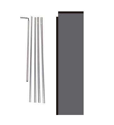Solid Cool Grey 15 Advertising Rectangle Feather Banner Flag W Polespike