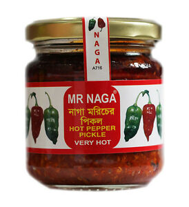 4 x MR NAGA Chilli Pickle 190g jars great price FREE P&P