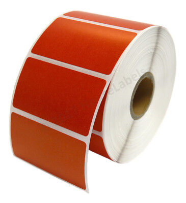 Zebra 2.25 X 1.25 Red Direct Thermal Labels - Eight 8 Rolls Lp2824 Zp450 Lp2844