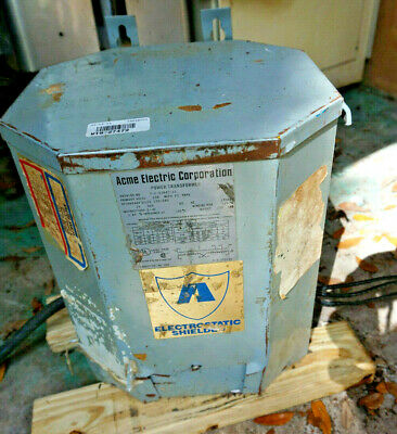 Acme 15kva Electric Dry Transformer Cat T-2-53647-1s Tested With Wires.