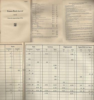 FDGB Kassen-Bank-Journal Kassen Bank Journal unbenutzt neuwertig über 20 Seiten