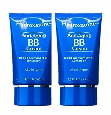 Hydroxatone Anti-Aging BB Cream, SPF 40 Universal Shade 2 pack of 1.5 oz each