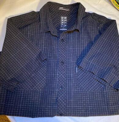 NWOT Billabong Mens Size L, Black Button Up Casual Shirt. Free Shipping.