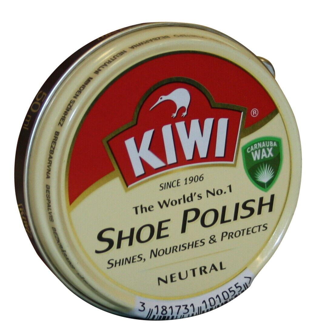 KIWI Schuhcreme 50ml farblos Schuh Leder Pflege Wax Dosencreme Wachs neutral
