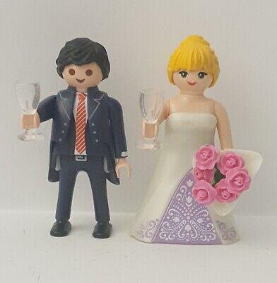 Custom Playmobil Pareja novios boda celebración casamiento ceremonia matrimonio