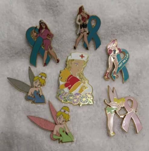 Super Value, 7 Fantasy Disney nurse pins, Jessica Rabbit, Elsa, Tinker bell