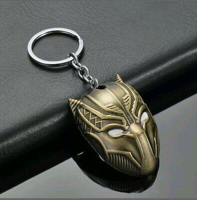 Schlüsselanhänger Maske Black Panther Marvel The Avengers Infinity War Gold  ()