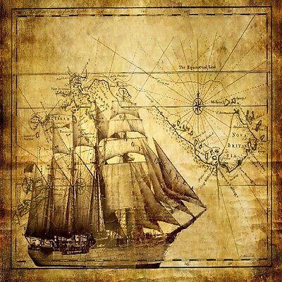 OLD WORLD MAP AND SHIP COASTERS  U PICK SET SIZE -