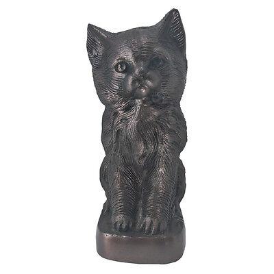 Antique Aluminium Sculpture Pet Urn for Ashes, Cat Memorial Urn