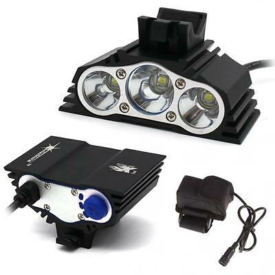 SolarStorm 12000LM Bike 3 x CREE XM-L T6 LED Bicycle Lamp Outdoor Headlight Kit