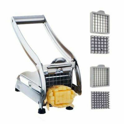 New Stainless Steel French Fry Cutter Potato Vegetable Slicer Chopper Dicer