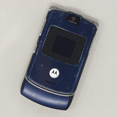 Motorola RAZR V3 - Flip Phone - Blue - Working Condition - Tesco - Fast P&P