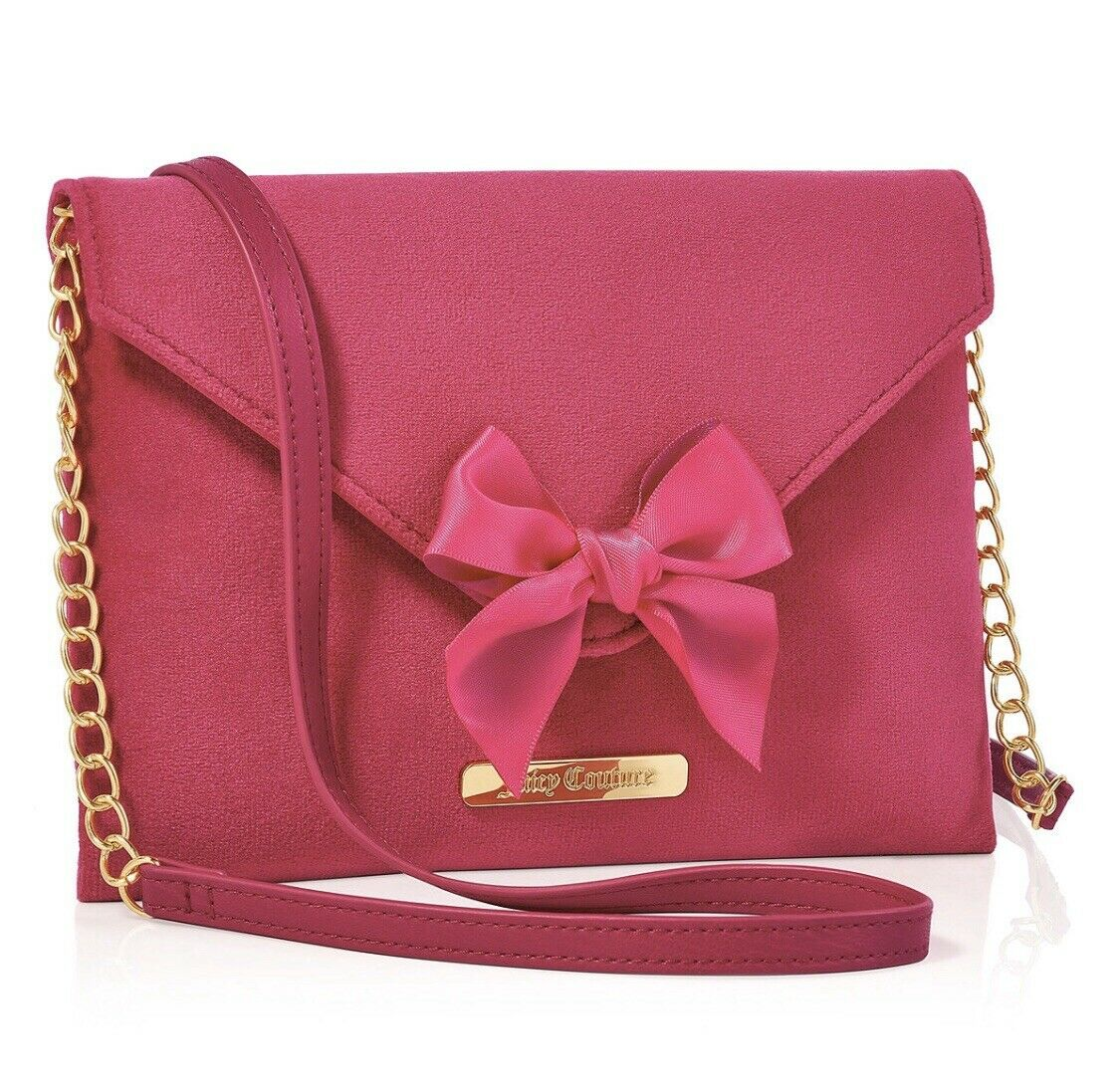 juicy couture hot pink soft bow chain