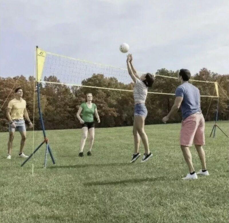 EASTPOINT  EASY SET UP VOLLEYBALL SET - TRIPOD NET SYSTEM, BALL & PUMP - NEW!!!