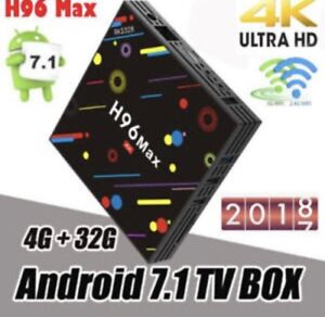 H9/6 MAX 4/32GB ANDROID TV BOX DUAL WIFI BT KODI APPS LOADED 4K Hallam Casey Area Preview
