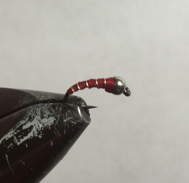 Zebra Midge Fly (one dozen) 3 Red, 3 Black, 3 Olive and 3 Cream.
