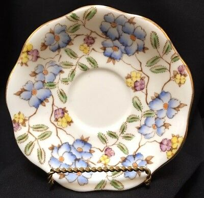 "VINTAGE FOLEY English Bone China ""Springdale"" Saucer c. 1930-1940  IN BLUE"