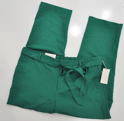 Crepe Tie - A New Day Straight Leg Tie Waist Crepe Pants Size XL Women's Green Stretch NWT