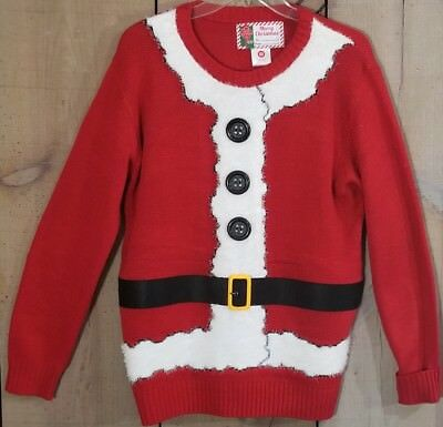 Ugly Christmas Sweater Santa Suit Crew Neck Women's Size Medium - Ugly Sweater Suit