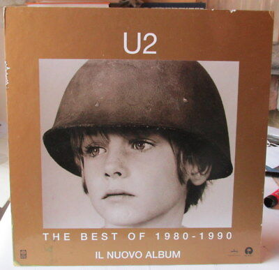 U2 THE BEST OF 1980 - 1990 ITALY ISLAND PROMO ONLY CARDBOARD SHOP DISPLAY