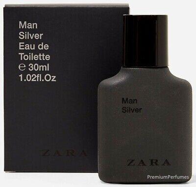 *DAMAGED BOX* ZARA MAN SILVER MEN'S EAU TOILETTE PERFUME FRAGRANCE 30ml 1oz NEW